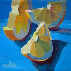 A Painting a Day by Patti Mollica: Lemon Slices
