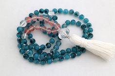 Journey Mala, Mala Beads, Meditation Mala, Mala Bead Necklace, Mala Beads 108, Turquoise Beads, Gemstones Healing Mala, Knotted Mala 108