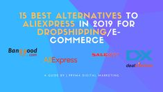 You're trapped…frustrated of the expensive product prices and long shipping times on AliExpress! Are you looking for some of the best AliExpress alternative Drop Shipping Business, E Commerce Business, Ecommerce, Digital Marketing, Alternative, E Commerce