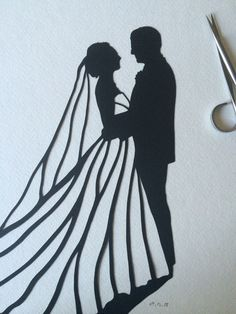 Your wedding day is one of the most important days of your life. It is filled with love and laughter. This silhouette is a great way to remember your special day! Hang this silhouette of your wedding