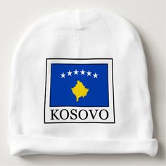 Shop Kosovo Baby Beanie created by KellyMagovern. Kosovo Flag, Political Events, Baby Hats, Flags, Kids Outfits, Beanie, Beanies, Flag