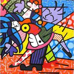 Quadro Tela - Painel Dancers- Romero Britto - R$ 300,00 no MercadoLivre
