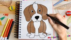 How to draw a Beagle - Easy step-by-step drawing lessons for kids Drawing Lessons For Kids, Easy Drawings For Kids, Cool Drawings, Drawing Ideas, Beautiful Drawings, Yoda Drawing, Baby Drawing, Cool Pictures To Draw, Dog Pictures