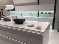 White kitchen design from composit