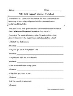 12 Best Inference Images Reading Worksheets Reading Comprehension