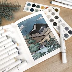 With the right tools in their arsenal, anyone can paint up inspiration and create truly amazing artwork. Copic Marker Drawings, Copic Sketch Markers, Drawing With Markers, Gcse Art Sketchbook, Sketchbook Cover, Sketchbooks, Hatch Drawing, Marker Kunst, Ohuhu Markers