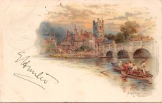 England Henley on Thames river boats Oxfordshire 1900 | eBay