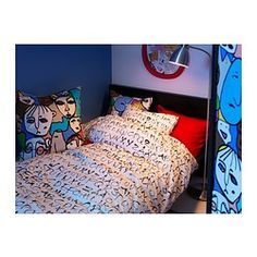 cool new comforter for preteen.  EIVOR ORD Duvet cover and pillowcase(s) - Twin - IKEA