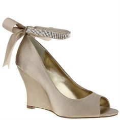 Nina satin shoes in Champagne and some in gold are sort of a nude/neutral color, if you wanted several options in the same material. (Nina EMMA CHAMPAGNE CRYSTAL SATIN by Nina Shoes)
