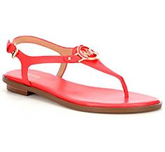 6fd3c0286e4ee4 Michael By Michael Kors Lee Thong Coral Reef Womens Sandals 9    Check out  the