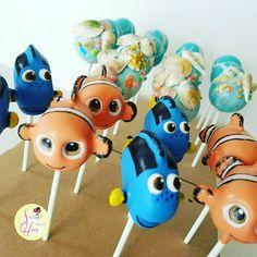 Nemo & Dory Cakepops #cakepops #nemocakepops #dorycakepops