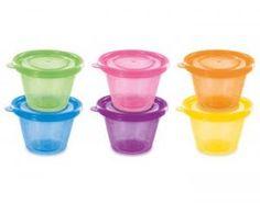 REMOND Set de 6 Petits Pots avec Couvercles - 120 ml