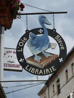 France, Haute-Loire - L'oie Bleue (The Blue Goose) La Chaise-Dieu - Département de la Haute Loire.  Haute-Loire is a department in south-central France named After the Loire River.   Denis DAVID