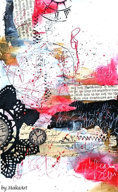 Art journal page - The picture of Dorian Gray... Welcome to my blog! My latest work I am sharing with you is a mixed media art journal page called The Picture of Dorian Gray. Fo...