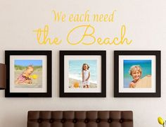 We each need the Beach Decal - Beach House Wall Decal - Wall Quotes - Ocean Wall Decor - Vinyl Lettering - Coastal Charm - Island Life Beach Wall Decals, Wall Decal Sticker, Vinyl Decals, California King Bedding, House Wall, Vinyl Lettering, Island Life, Wall Quotes, Beach Themes
