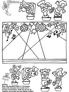 Disco / dansen - Kijkdoos - Knutselpagina.nl - knutselen, knutselen en nog eens knutselen.