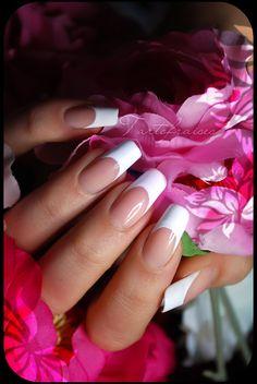 french manicure (natural nails, only nail polish) by Tartofraises.deviantart.com on @deviantART