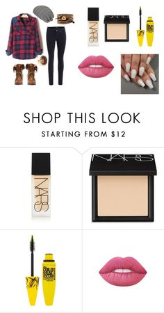 """""""Riley"""" by brooklyn-953 ❤ liked on Polyvore featuring NARS Cosmetics, Maybelline and Lime Crime"""