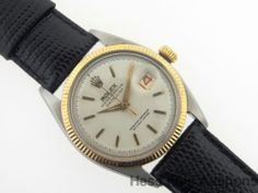 Minty Rolex Red Date 6605 w/ Orig Dial Datejust Mens Watch Ss Gold
