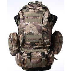 HFIRE 65L Sport Outdoor Military Rucksacks Tactical Molle Backpack Camping Hiking Trekking Bag - CP