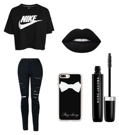 """☯️"" by lola2bravo on Polyvore featuring NIKE, Casetify and Marc Jacobs"