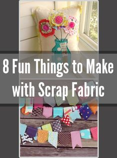 The best DIY projects & DIY ideas and tutorials: sewing, paper craft, DIY. Diy Crafts Ideas 8 Fun Things to Make with Scrap Fabric -Read Sewing Hacks, Sewing Tutorials, Sewing Crafts, Sewing Patterns, Diy Crafts, Sewing Ideas, Scrap Fabric Projects, Fabric Scraps, Craft Projects