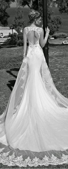 galia lahav heart shape back lace wedding dresses