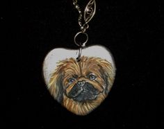 Hey, I found this really awesome Etsy listing at https://www.etsy.com/listing/73135830/pekingese-dog-necklace-painted-ceramic