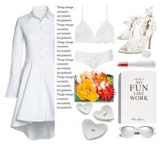 """""""White n......................"""" by emcf3548 ❤ liked on Polyvore featuring Lands' End, KOTUR, Crate and Barrel, Exude, Topshop, Yves Saint Laurent and Selfridges"""