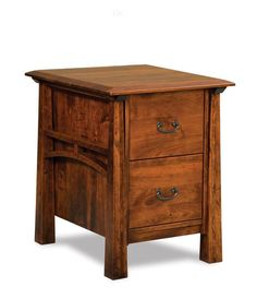 Amish Artesa Two Drawers File Cabinet The Artesa blends contemporary and traditional styles for a unique transitional look. Two perfectly crafted drawers provide room to organize files. The Artesa is Amish made in Indiana and you can select the wood and finish you would like to have it built in. #Amishfurniture #filecabinets #officefurniture