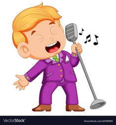 Young man singing vector image on VectorStock Music For Kids, Diy For Kids, Singing Drawing, Writing Pictures, Doodle Coloring, Cartoon People, Cute Clipart, Teachers' Day, Cute Cartoon Wallpapers