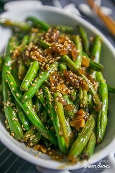 These are the easiest and tastiest way ot make green beans - garlic chinese green beans!