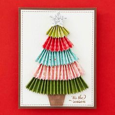 These DIY Christmas cards will be the star of any loved one's mantel. Each design has step-by-step instructions for making your own creative Christmas cards. Creative Christmas Cards, Christmas Tree Cards, Christmas Decorations, Christmas Postcards, Xmas Tree, Christmas Projects, Kids Christmas, Holiday Crafts, Christmas Movies