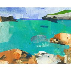 Abstract Nature, Menorca, Collage, Textiles, Study, Weather, Board, Illustration, Handmade