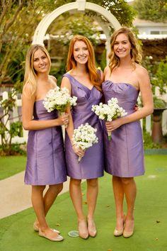 Pretty in purple  *Wearing purple bridesmaid dresses by Anna Elyse