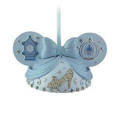 disney christmas princess cinderella ear hat ornament new with tag