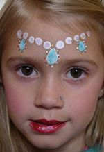 Tiara face painting