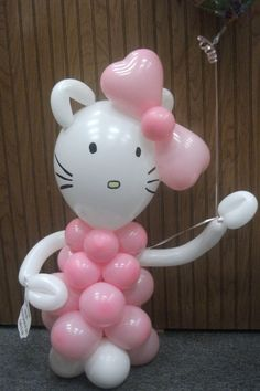 Hello Kitty designed by Balloons by Night Moods  in Juneau, Alaska. www.juneausbestballoon.intuitwebsites.com