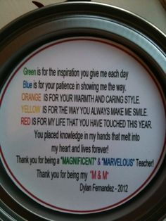 Teacher's Appreciation Gift