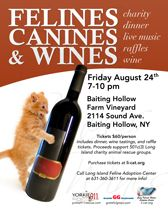 animal fundraiser wine tasting | ... greyhounds invite you to felines canines and wines this fundraiser