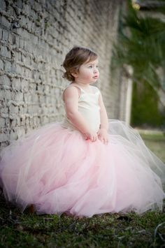 Tutu Dress Soft Vintage Pink  CHILD Flower Girl by MirelaOlariu, $195.00