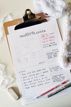 Imprimible /planificador para proyectos craft // Printable craft project planner |  #crafts #DIY #printable #freebie