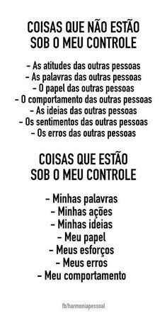SOBRE CONTROLE Motivational Phrases, Inspirational Quotes, The Words, Words Quotes, Self Help, Positive Vibes, Sentences, Life Lessons, Texts