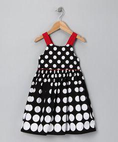Black & Red Dot Dress - Toddler & Girls
