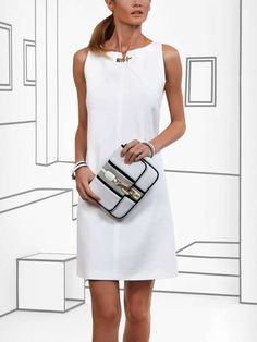 Pin by Jacqueline Daisy on JZ in 2019 Classy Outfits, Chic Outfits, Beautiful Casual Dresses, Little White Dresses, Work Fashion, Cotton Dresses, Fashion Dresses, Summer Dresses, Clothes For Women