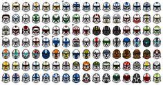 Star Wars The Clone Wars:Clone Helmets