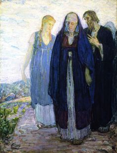 """Return of the Holy Women,"" Henry Ossawa Tanner, 1904, oil on canvas, 46 x 35"", 	Cedar Rapids Museum of Art."