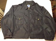 """VTG Mens XXL Horace Small Security/Police Bomber Style Jacket, """"Yellow Jackets"""" #HoraceSmall"""