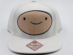 9f9882a8c3dd7 Details about Adventure Time Finn White Trucker Snapback Hat Baseball Cap  CLEARANCE