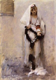 A Parisian Beggar Girl by John Singer Sargent